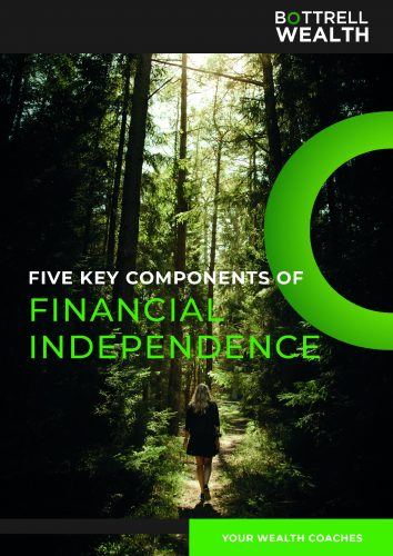 "Cover for ""Five key components of financial independence"" e-Book"