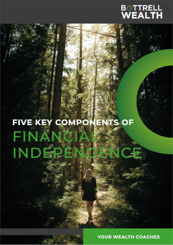 E-book cover for the 5 key components of financial independence